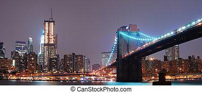 novo, cidade, york, panorama