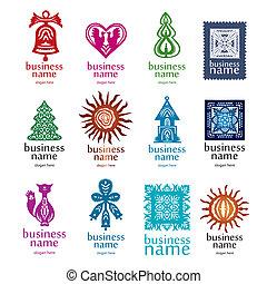 novo, cobrança, logotipos