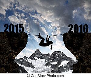 novo, conceito, 2016, ano