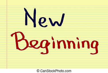 novo, conceito, começando