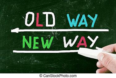 novo, conceito, maneira