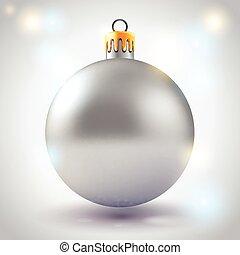novo, concept., cartão natal, ano