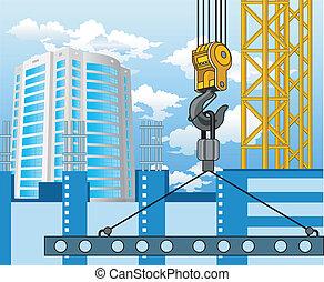 novo, construção, área