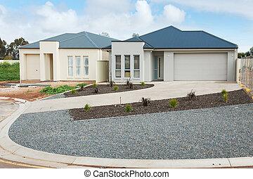 novo, construção, lares
