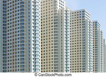 novo, edifício apartamento