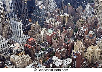 novo, edifícios, york, cidade