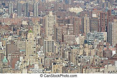 novo, edifícios, york, textura, cidade