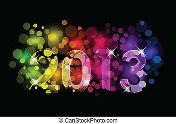 novo, feliz, -, 2013, ano