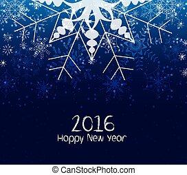 novo, feliz, 2016, inverno, ano