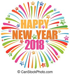 novo, feliz, 2018, ano