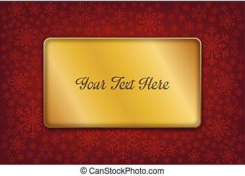 novo, feliz, cartão, ano