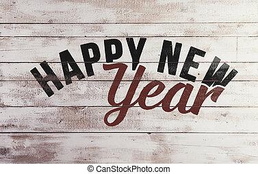 novo, feliz, composição, ano