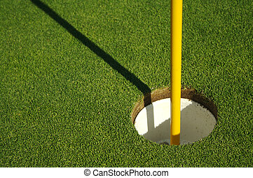novo, golfe verde, segar
