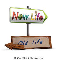novo, imagem, vida, 3d