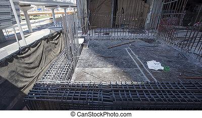 novo, local, construção edifício