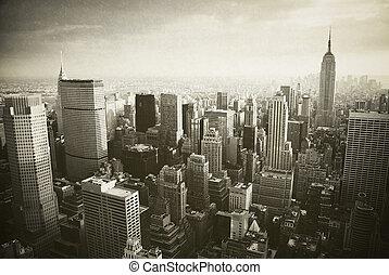 novo, manhattan, york, cidade