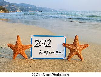 novo, mensagem, 2012, feliz, ano