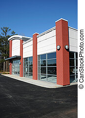 novo, modernos, edifício comercial