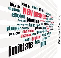 novo negócio, palavras