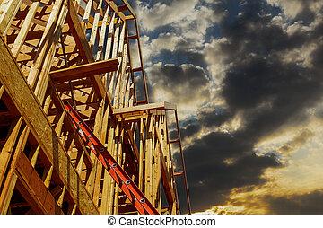 novo, predios, construção
