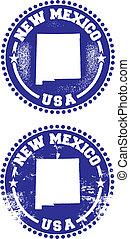 novo, selos, eua, méxico