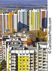 novo, social, edifícios apartamento, em, a, área...