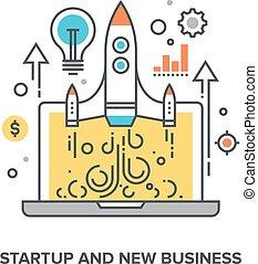 novo, startup, negócio