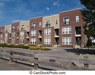 novo, townhouse, ou, condomínio, tipo, lares