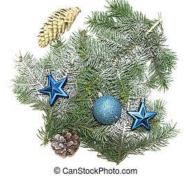 novo, vário, decorações natal, ano