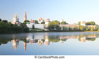 Novodevichy Convent during sunrise