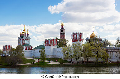 Novodevichy Convent in Moscow in the spring