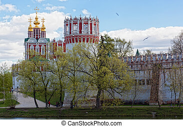 Novodevichy Convent in Moscow , Russia. Was built in the 16th and 17th centuries