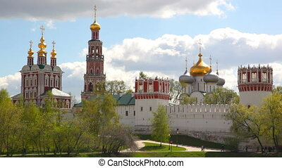 Novodevichy Convent in Moscow, shooting with a distance