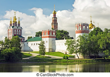 Novodevichy convent in the early morning
