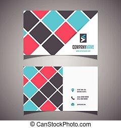 novodobý povolání, karta, design, 0906