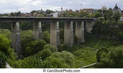 Novoplanovskiy bridge in Kamianets-Podilskyi city