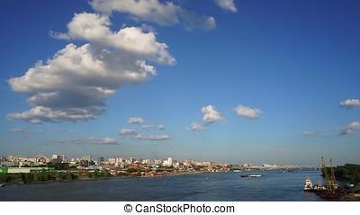Novosibirsk, Siberia, Russia - view of the Ob river. A...