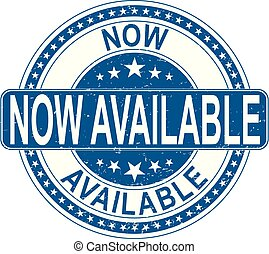 now available stamp internet sign on white background