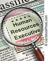 Now Hiring Human Resources Executive. 3D.