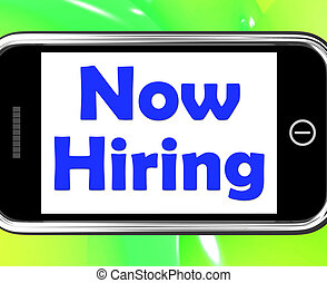 Now Hiring On Phone Shows Recruitment Online Hire Jobs - Now...