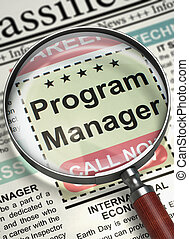 Now Hiring Program Manager. 3D. - Program Manager - Small ...