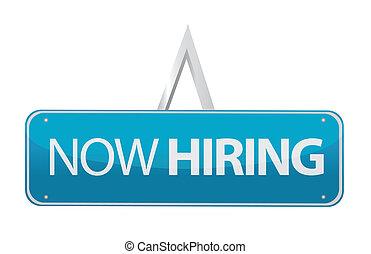 now hiring sign illustration design