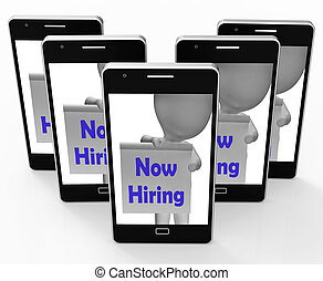 Now Hiring Smartphone Shows Recruitment And Job Opening