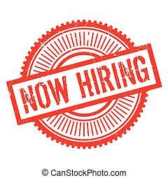 Now hiring stamp