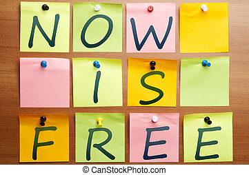 Now is free