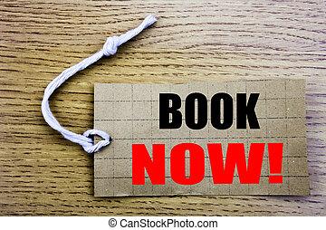 now., livre, étiquette, business, espace, papier, réservation, réservation, fond, bois, vente, copie, coût, ligne, vendange, concept, écrit
