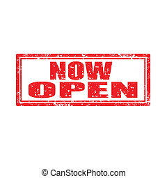 Now Open-stamp