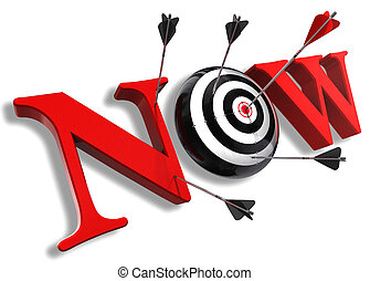 now red word and conceptual target
