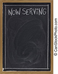 now serving on blackboard