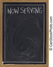 now serving on blackboard